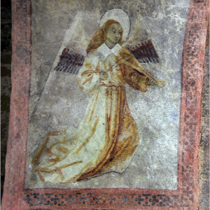 Audressein, Église Notre-Dame-de-Tramesaygues - porch frescoes