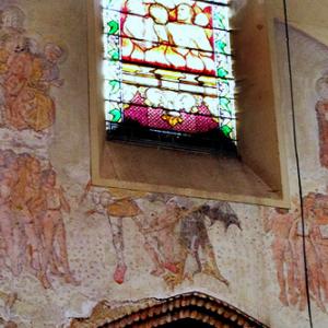 Lezat-sur-Lèze, Èglise St-Jean-Baptiste - fresco