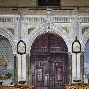 Montesquieu-Volvestre, Église St-Victor - west end