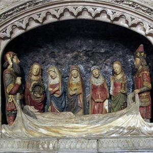 Montesquieu-Volvestre, Église St-Victor - mise en tombeau