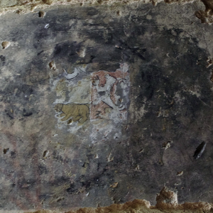 Urval fortified church - remains of mural