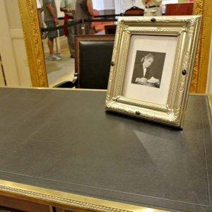 Eva Peron's desk at Casa Rosada in Buenos Aires, Argentina.