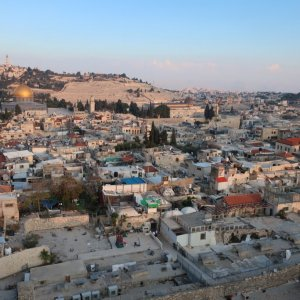 View towards Mount of Olives