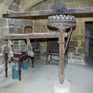 Donkey mill for mixing dough, Gharb Folklore Museum