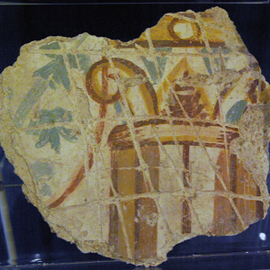 Roman Domus Museum - fragment of painted wall plaster