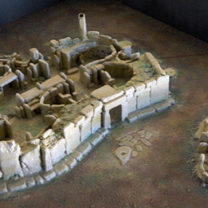 Model of Hagar Qim Temple
