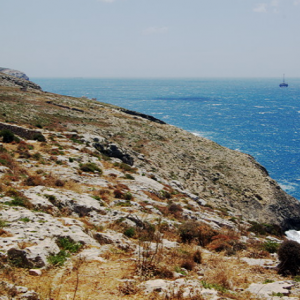 Along the coast from Tal Hamrija watchtower