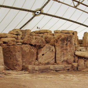 Mnajdra -courtyard and entrances to western and central temples