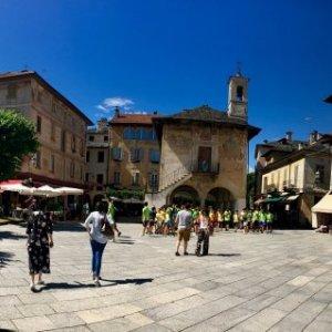 Panorama of the main square in Orta San Giulio