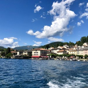 View of Orta San Giulio from the lake