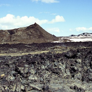Leirhnjúkshraun - lava field and cone
