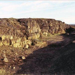 Fissure near  Ásbyrgi