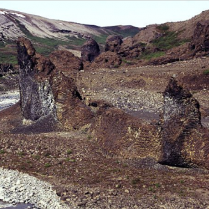 Vesterdalur - rock formations