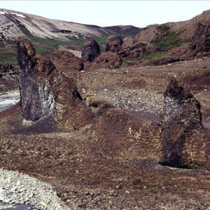 Vesterdalur - rock formations