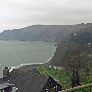 Across Lynmouth Bay to Countisbury Cliffs