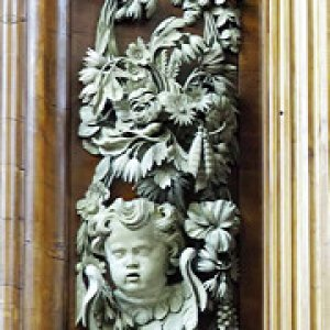 Grinling Gibbons carving, Trinity College Chapel, Oxford