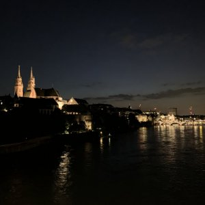 Basel at night