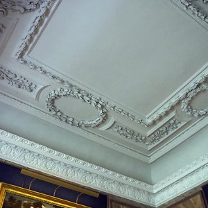 Blue Silk Dressing Room - plaster ceiling