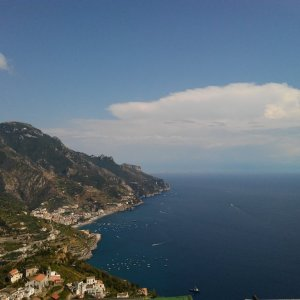View from Ravello on the Amalfi Coast