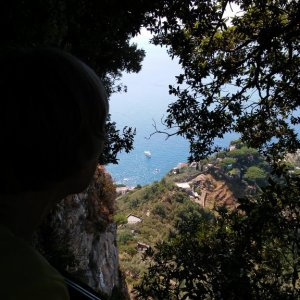 view from the Villa Cimbrone garden, Ravello