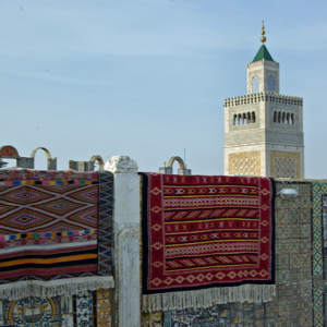 Carpet shop with a panoramic view
