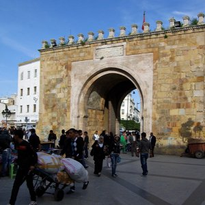 Bab el Bahr, one of the old gateways into Tunis medina