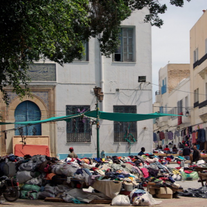 Sfax, Second hand clothes market near the Kasbah