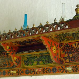 Dar Jellouli Museum of Popular Arts and Traditions - display rack in salon