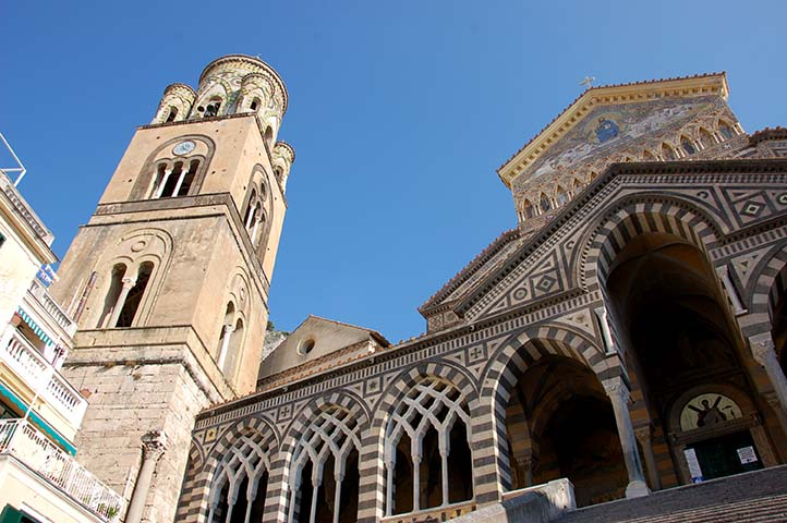 Amalfi Cathedral in the town of Amalfi, Italy.