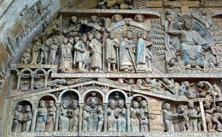 Conques, Abbey-Church of Saint-Foy - detail of tympanum