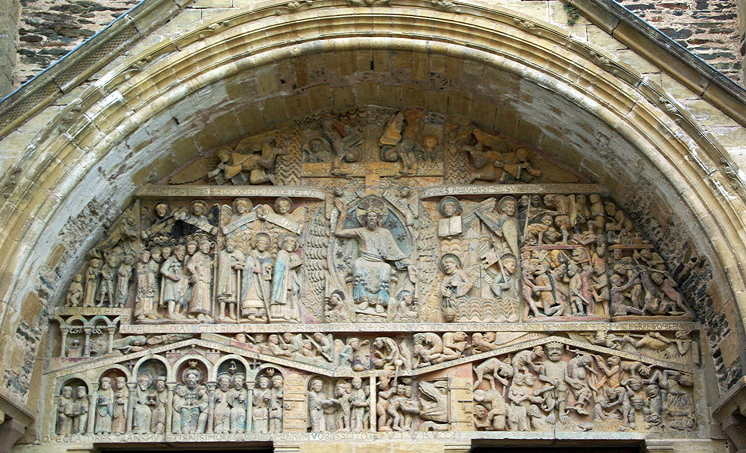 Conques, Abbey-Church of Saint-Foy - west door tympanum