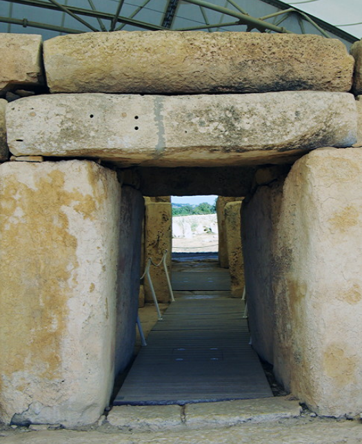 Hagar Qim - entrance to main temple