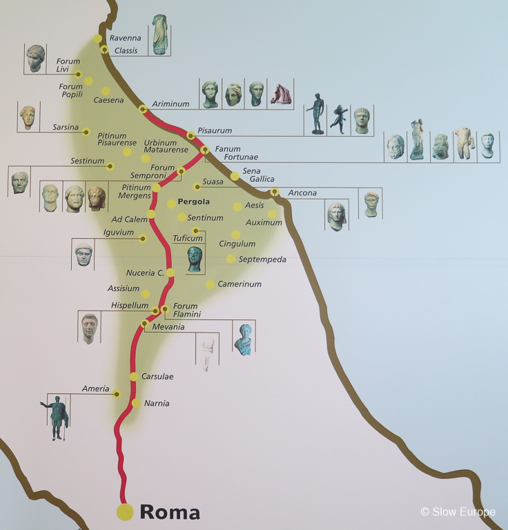 Map of Via Flaminia
