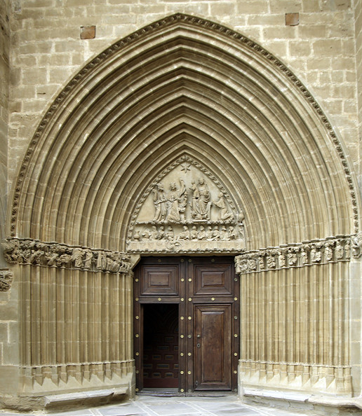 Ujué, Iglesia Santa Maria - south door